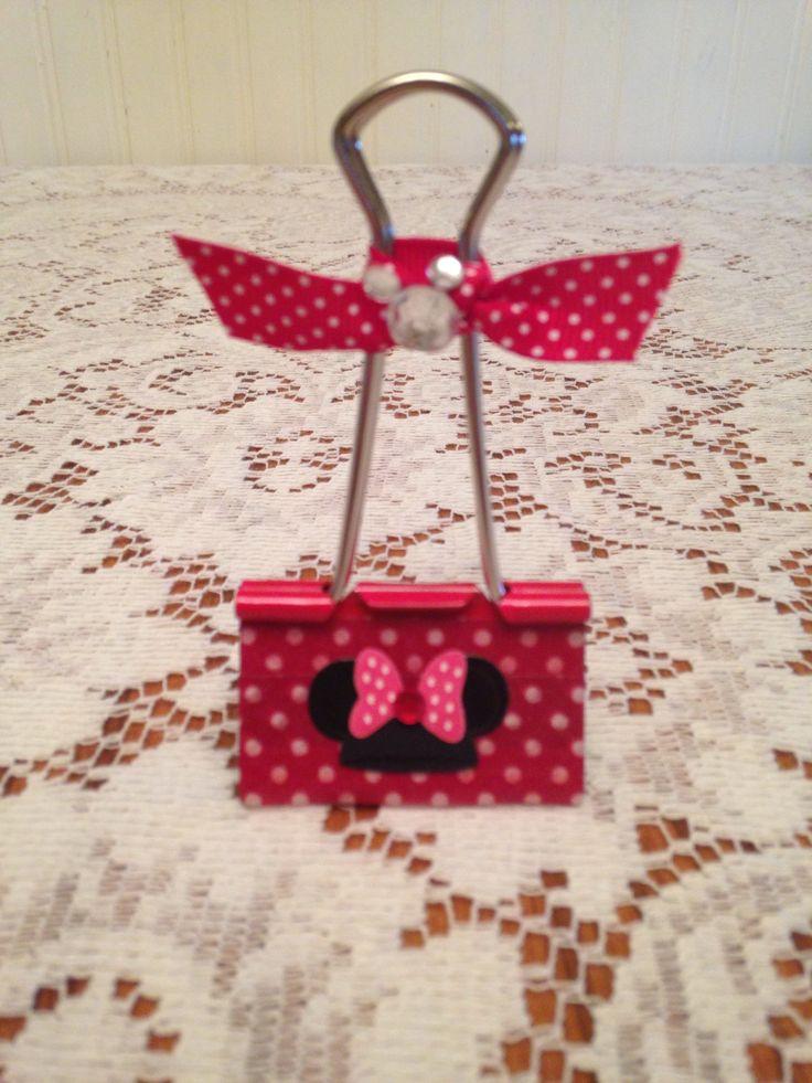 Minnie Mouse Binder Clip