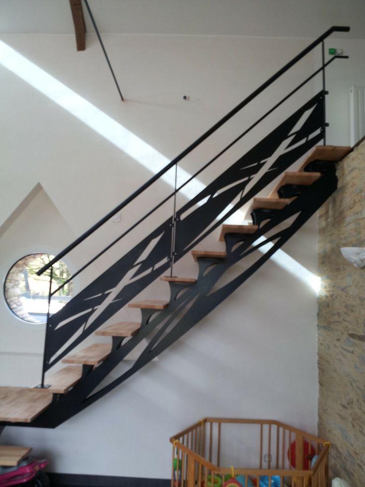les 57 meilleures images du tableau garde corps sur pinterest d coupe laser escaliers et acier. Black Bedroom Furniture Sets. Home Design Ideas