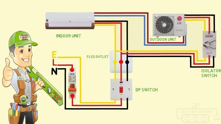 Split Ac Wiring Diagram Indoor Outdoor Single Phase