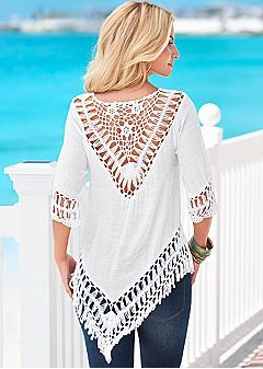 Sheer Styles & Crochet Fashions - Dresses, Sweaters & Tops by VENUS