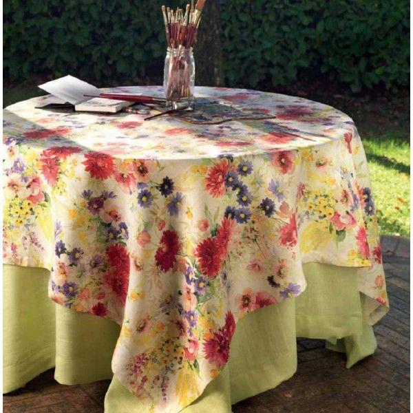Tovaglia puro lino Georgette Tessitura Toscana Telerie
