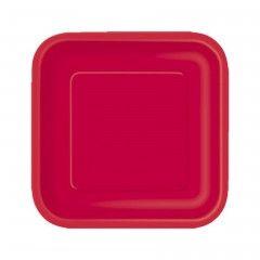 Χάρτινα πιάτα για πάρτυ σε κόκκινο χρώμα