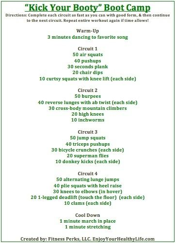boot camp exercises