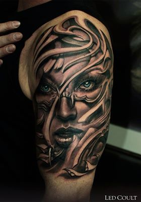 Led Coult at Art Faktors Tattoo Studio, Essen, Germany