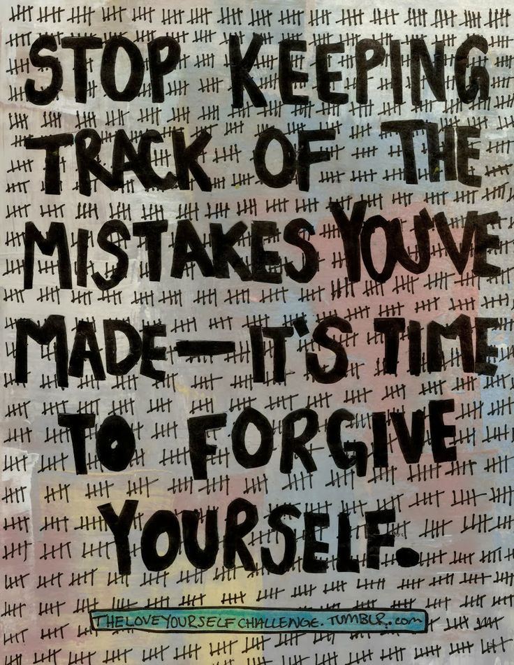 It's time to forgive yourself. Are there 77 tallies? Forgive yourself as you would others.