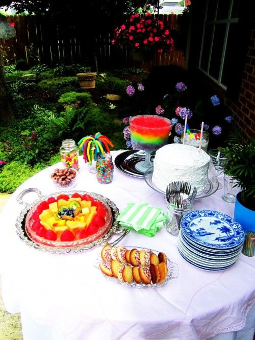 A rainbow-themed baby shower from rainbow heaven land | Offbeat Mama