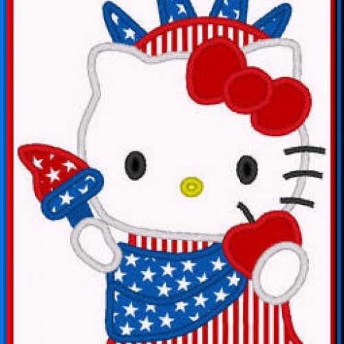 23 best images about 4th of july applique on pinterest for Hello kitty 4th of july coloring pages