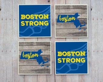 Boston Marathon / Boston Marathon Coasters / Boston Strong / Boston / 26.2 / Boston Coasters / Marathon Gift / Marathon Coasters / Running