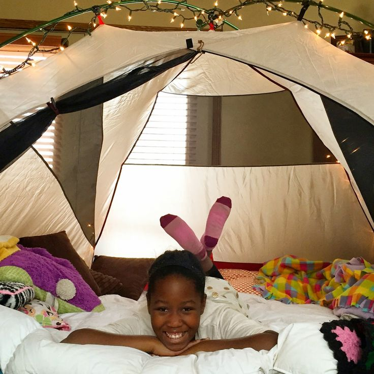 Glamping Birthday Party - 10 year old indoor camping party for girls