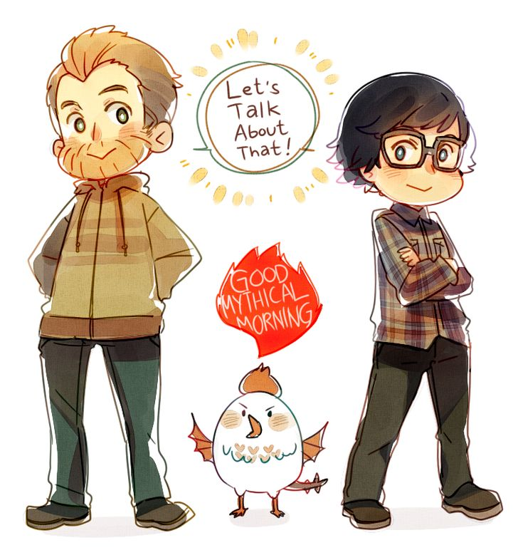 Good Mythical Morning by ROSEL-D.deviantart.com on @DeviantArt
