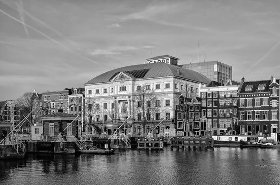 Royal theater Carré at the Amstel river in Amsterdam.