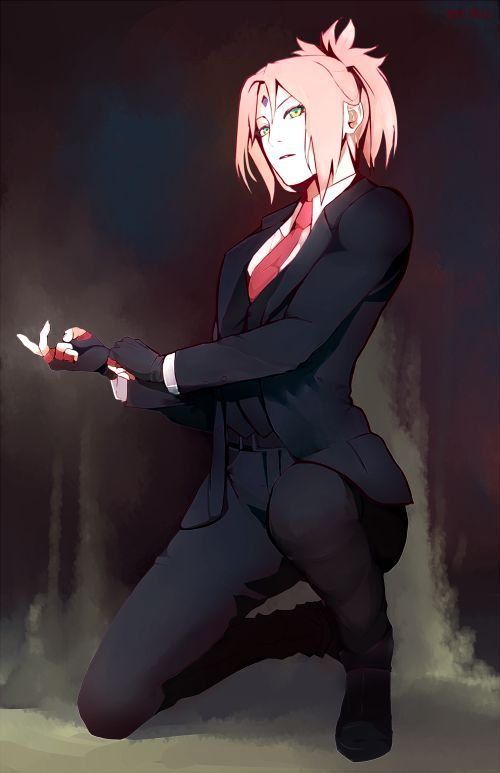 """arriku: """" Ok but what about Sakura in a suit """"…"""