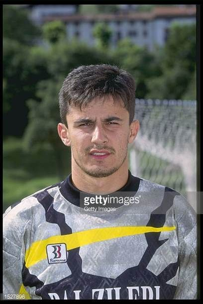 A portrait of Luca Mondini of Vicenza taken during the club photocall Mandatory Credit Allsport UK