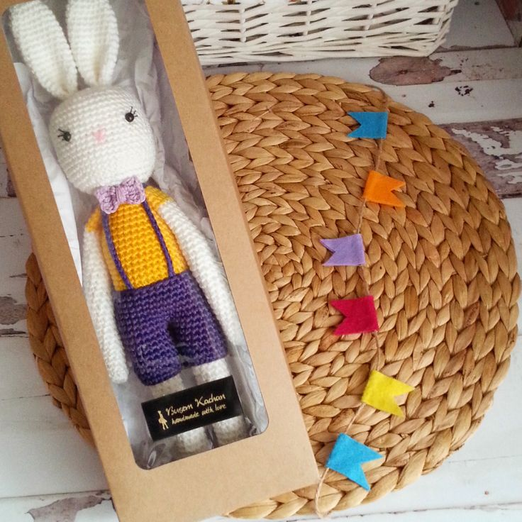 HEALTY HANDMADE TOY, Amigurumi Rabbit, Handmade Crochet Toys, Birthday Present by busem on Etsy