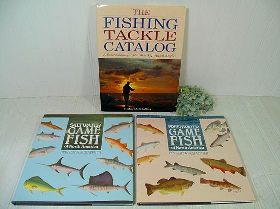 Set of 3 Large Fishing Books by Herb Schaffner  Vintage