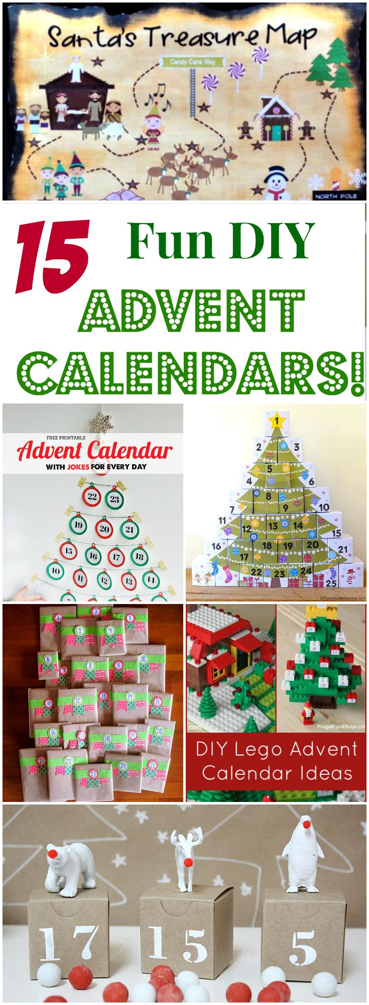 15 Fun DIY Advent Calendars for Kids! A collection of incredibly fun and interactive Christmas Countdowns you can make at home! You won't want to miss these fantastic tutorials!! Letters from Santa || www.easyfreesantaletter.com