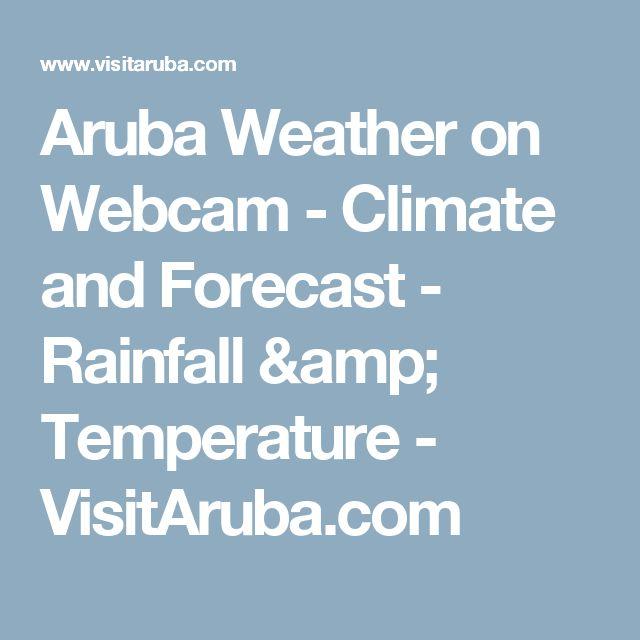 Aruba Weather on Webcam - Climate and Forecast - Rainfall & Temperature - VisitAruba.com