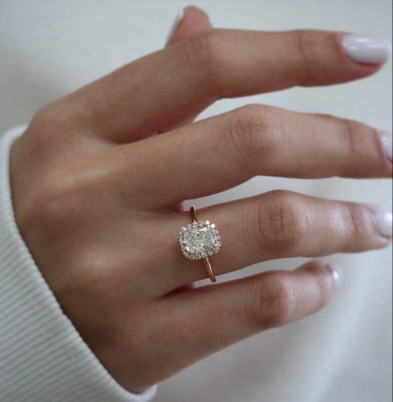 Diamond Engagement Ring 1.70ct Diamond Ring Pillow   Etsy