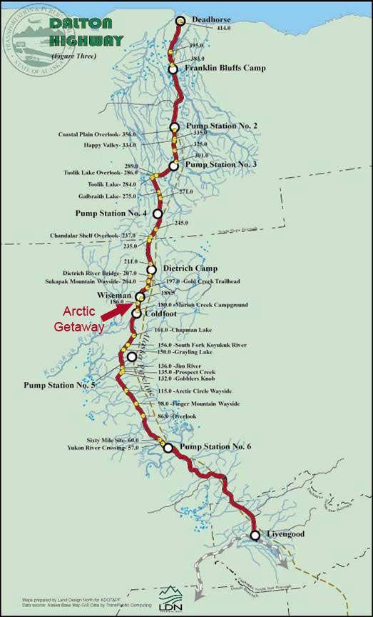 dalton highway alaska map