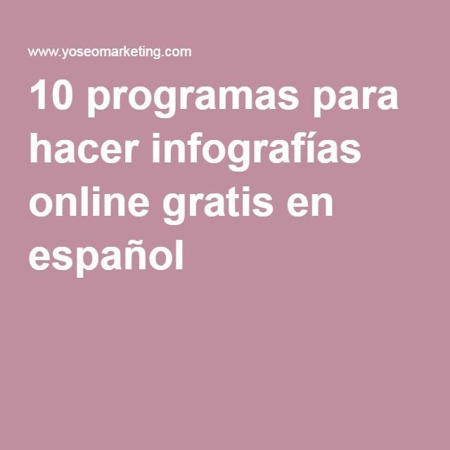 10 Programas Para Hacer Infograf As Online Gratis En