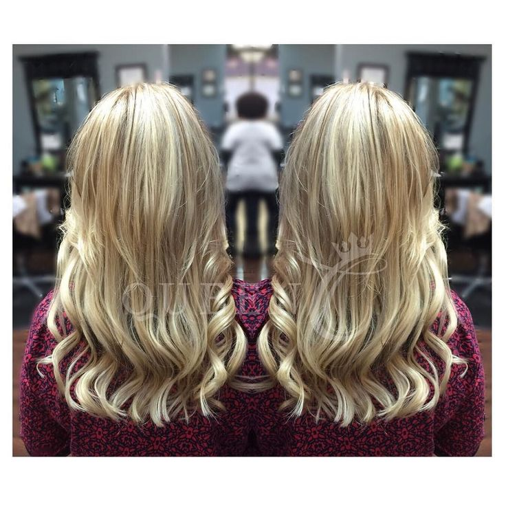 This gorgeous Kellye Bomb Blonde wavy hair style is perfect using 100% Human Hair   AIRess clip-in Extensions.  Perfect for fine hair.  Get this beautiful natural look