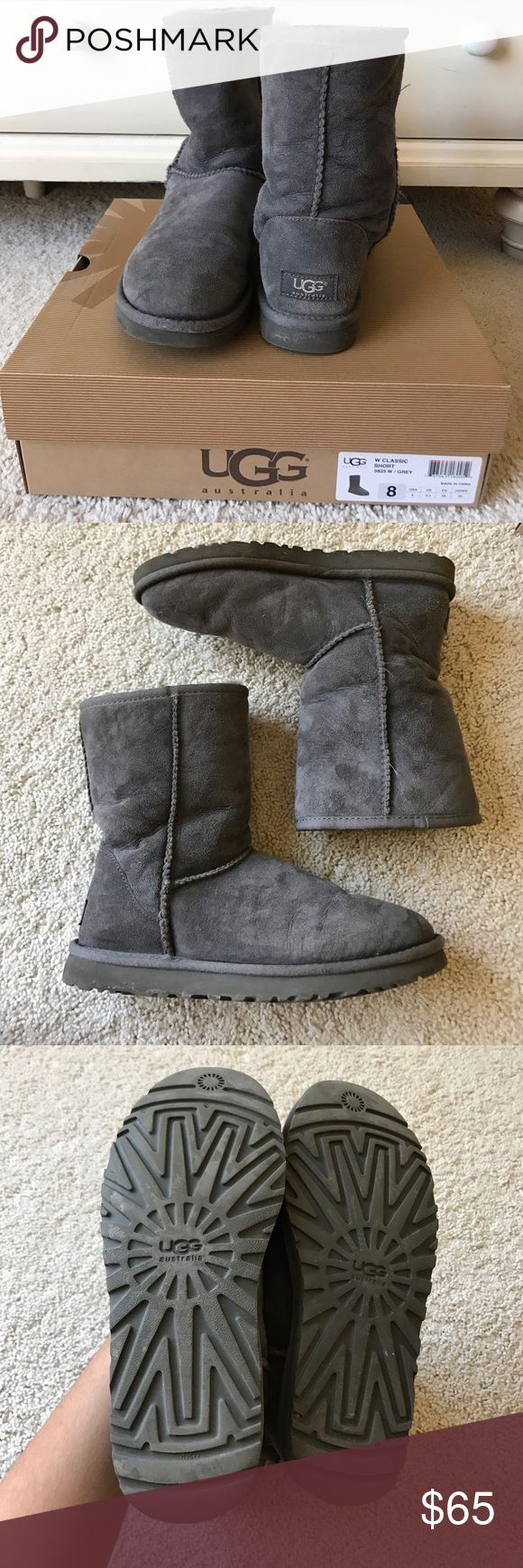 AUTHENTIC Gray Short Uggs Super comfortable and warm! These have been gently worn and are in great condition! UGG Shoes
