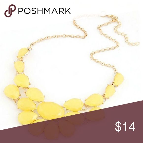 "Lemon Yellow Statement Fashion Necklace ❤ new with tags ❤ 20"" chain ❤ bright yellow statement necklace  ❤ Buy with confidence from a top rated seller and fast shipper A493 ❤ Bundle 2 items and save 15% Jewelry Necklaces"