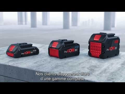 La gamme de batteries Bosch ProCORE18V :trois modèles qui posent de nouveaux jalons: La gamme de batteries ProCORE 18V se… #InfoWebBTP