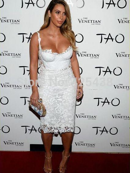 Robe blanche et or kim kardashian