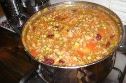 Hungarian Food - Bean Soup a la Jokai (Jókai Bableves)
