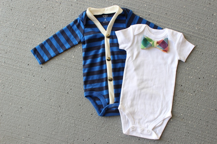 Cardigan and Bow Tie Onesie Set  Trendy Baby Boy  Blue by HaddonCo, $40.00