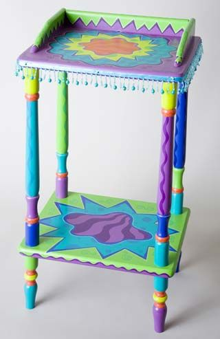 painted table...love the colors