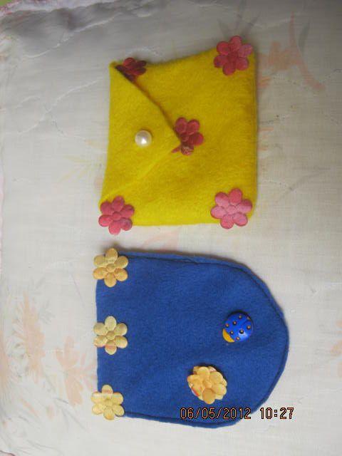 monederos para niñas en paño lency/fieltro