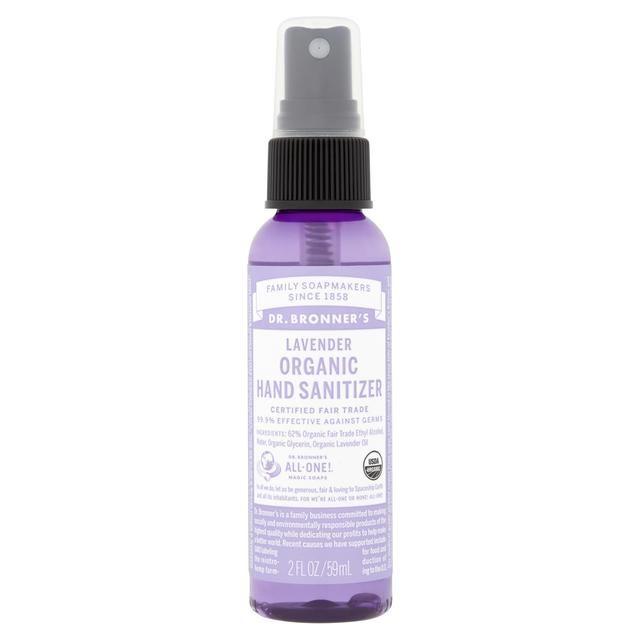Morrisons Dr Bronner S Organic Hand Sanitiser Lavender 60ml