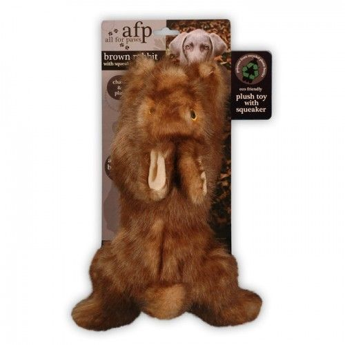 Brown Rabbit Squeaky Soft Toy for Dogs and puppies Dog Lovers  on Yellow Octopus #kriskringle #pettoy #brown #rabbit #squeaky