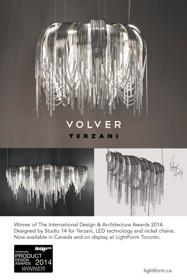 The volver led suspension light wins an international product design award