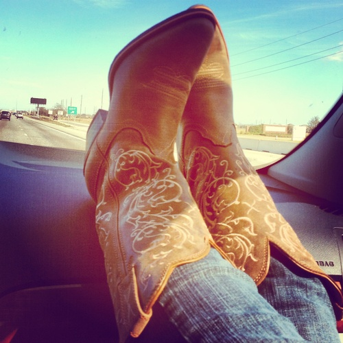 I know some country girls who got me into cowgirl boots