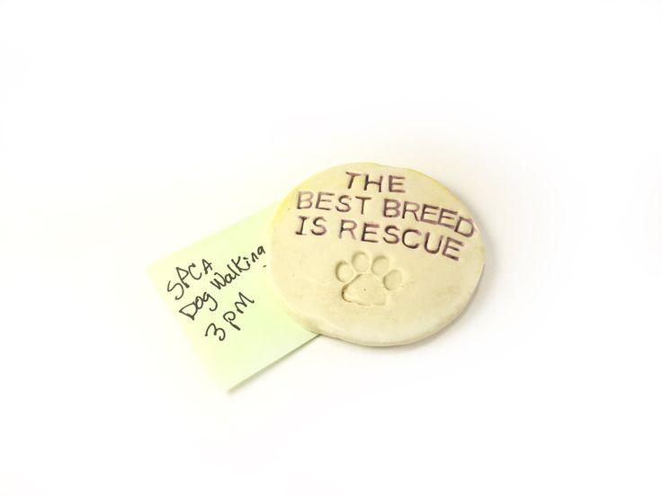 Fridge Magnet. Ceramic Magnet. Dog Lovers Magnet. Rescue Dog Magnet. Animal Shelter. Adopt Don't Shop. Animal Rescue. Gift for Dog Lover. by FaeGartenClay on Etsy