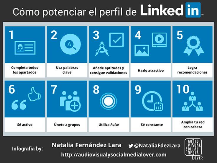 Infografía: Cómo potenciar el perfil de #LinkedIn #RedesSociales