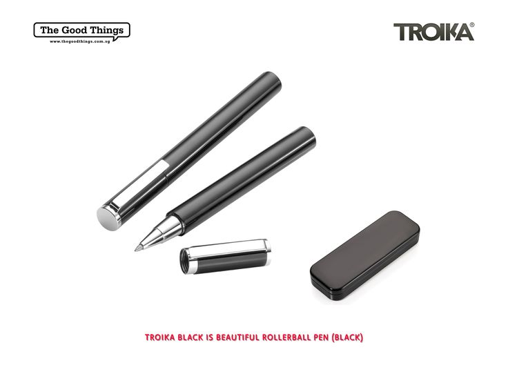 TROIKA BLACK IS BEAUTIFUL ROLLERBALL PEN.    The Troika handwriting collection contains writing implements for people who have something to say. Because everyone has their very own handwriting.    #tgt #thegoodthings #troika