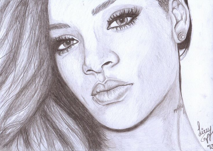 My Rihanna drawing
