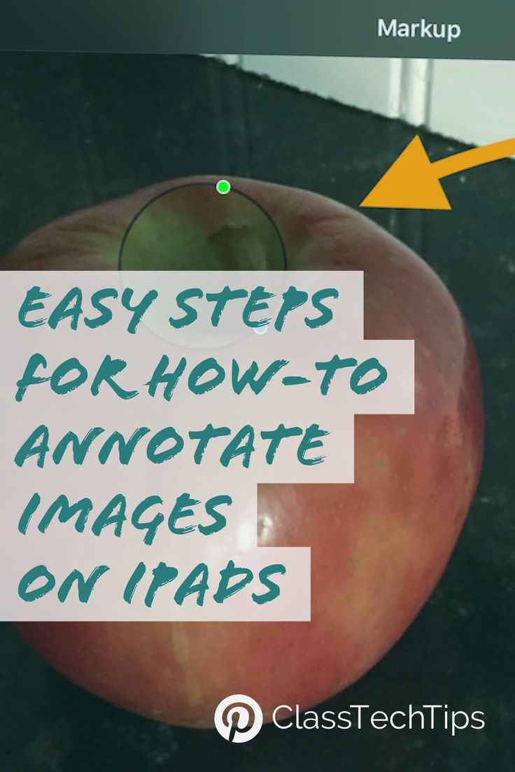 Learn how-to annotate images on your iPad! Click here for quick tips for getting started :)