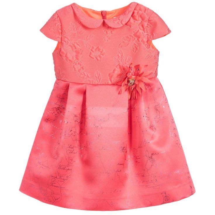 Alviero Martini - Girls Pink Geo Map Dress   Childrensalon
