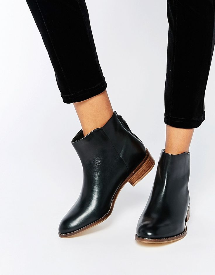 Shop Dune Philbert Clean Leather Zip Back Ankle Boots at ASOS.
