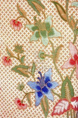 detailed patterns of indonesian batik