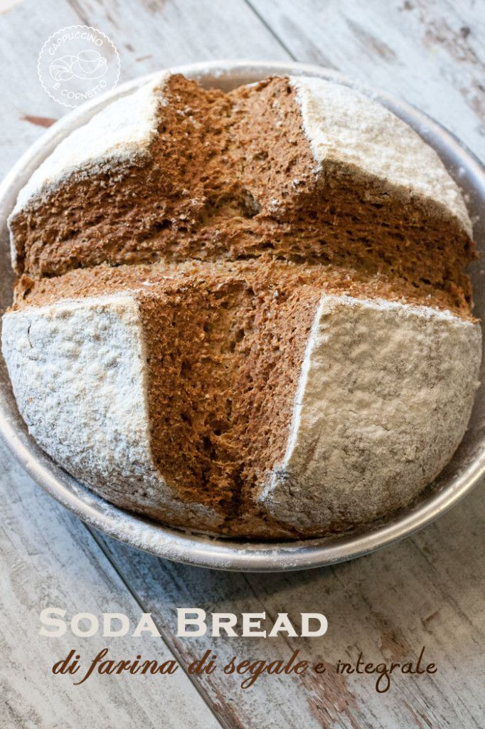 Soda Bread di farina di segale e integrale
