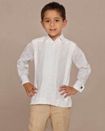 Pantalon   Camasha Linen Guayabera para niño Camasha