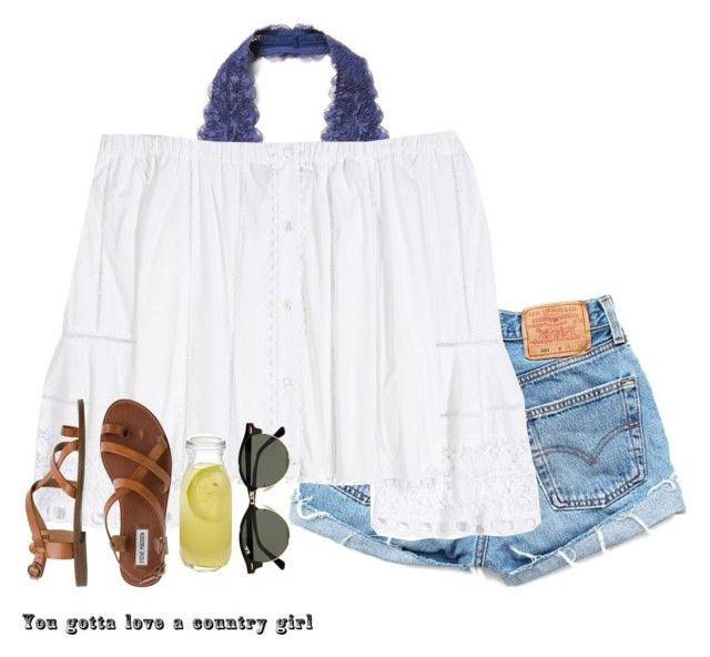 """aint nuthin in the whole wide world like a southern girl"" by bryanna-style ❤ liked on Polyvore featuring Free People, Levi's, Carolina Herrera, Steve Madden, Ray-Ban and Crate and Barrel"