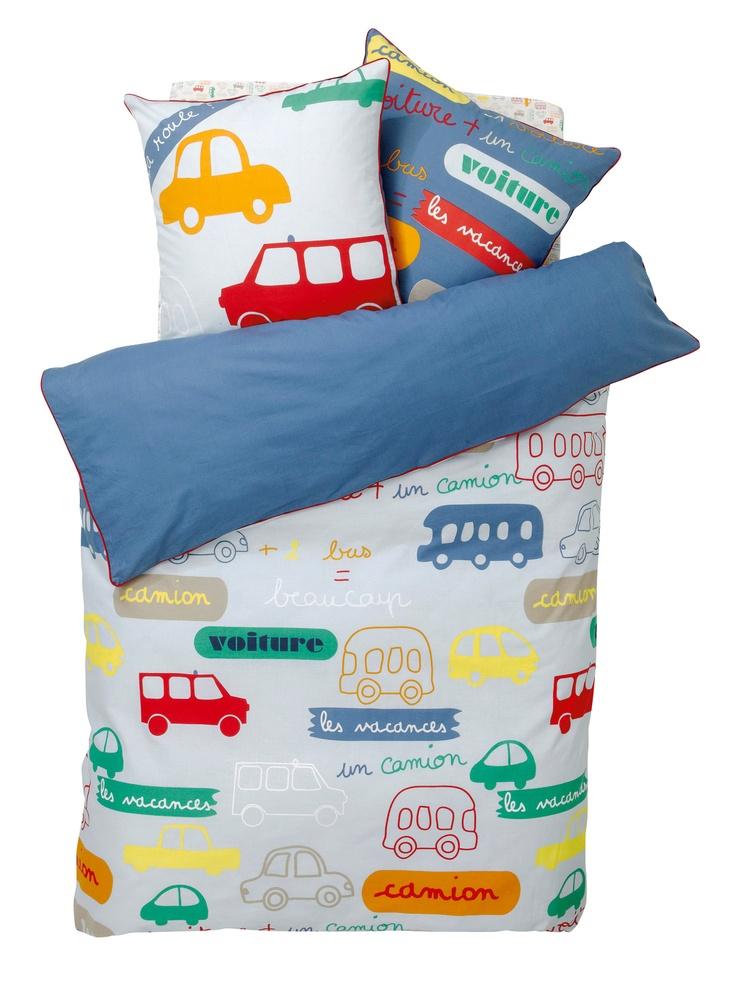 Juego de ropa de cama niño 'Circulación'. Se irá a dormir en un periquete :-)