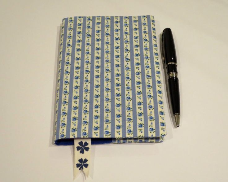 Fabric Book Cover with Bookmark, Suits A6 Notebook, Bonus Notebook Included, Blue Floral Print Cotton Fabric, Feminine Gift for Her by JadoreBooks on Etsy https://www.etsy.com/listing/261360640/fabric-book-cover-with-bookmark-suits-a6